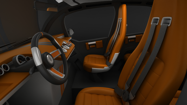 City car Mirrow Provocator interior