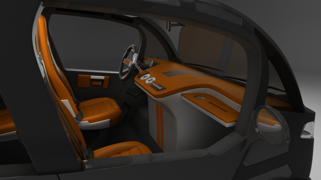 Concept car Mirrow Provocator interior